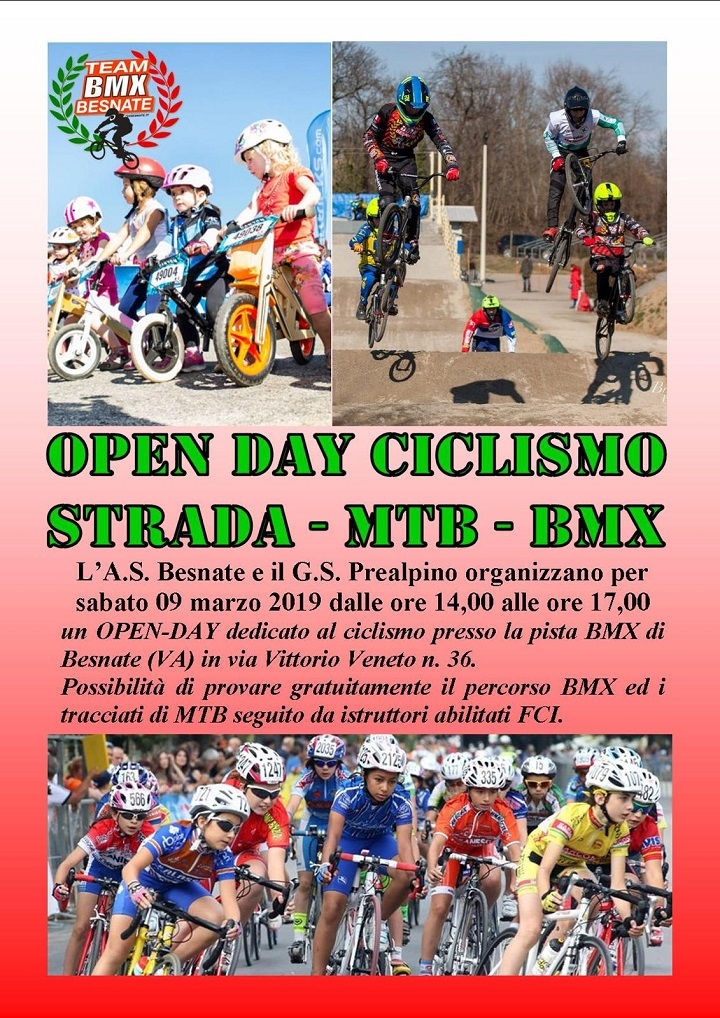 open day ciclismo besnate 2019